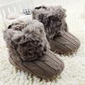 Sapatos de bebê Crianças Malha Crochet de Lã Botas de Lã Berço Sapatos de Neve Botas de Inverno Da Criança do Menino Da Menina