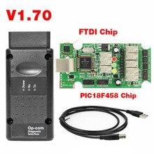 2019 OP COM لأوبل V1.70 OBD2 OP COM سيارة التشخيص ماسحة الحقيقي PIC18f458 OPCOM لأوبل سيارة التشخيص أداة فلاش الثابتة