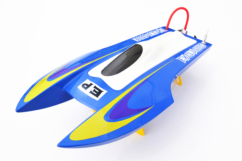 M440 PNP Fiber Glass Catamaran Electric Racing Speed Boat Mini RC Boat W/ESC& Brushless Motor Blue e36 pnp sword fiber glass racing speed rc boat w 1750kv brushless motor 120a esc servo boat green