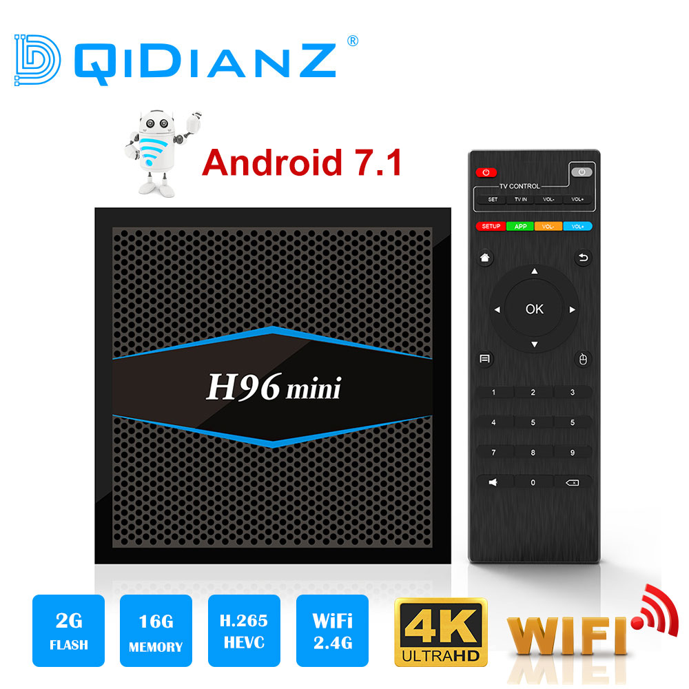 Best Price H96mini Smart tv box Android 7 1 2 4G/5G Wifi