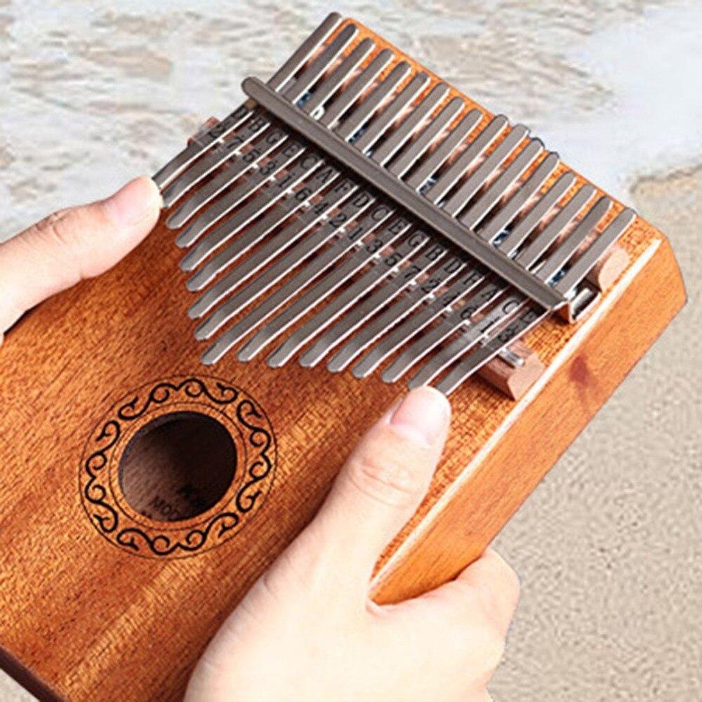 10/17 Keys Kalimba African Solid Mahogany Acacia Thumb Finger Piano 17 Keys Solid Wood Kalimba Musical Instrument