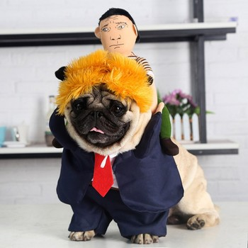 Halloween Party Pet Dog Costume Funny Cosplay President Carry Doll Cloth Pet Dog Puppy Halloween Dress Up Party Creative Hoodies