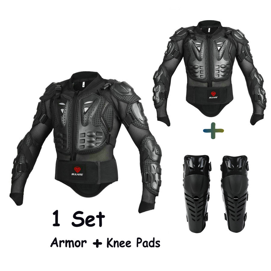 Motorcycle Enduro Jacket Full Body Protective Gear Men Motorcycle Armor Jacket+Knee Pads Motocross Protector Motor Protection motorcycle racing sport full enduro body armor spine chest protective gear motocross accessories protector jacket fit for buell all model year