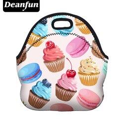 Deanfun Сумочка для ланча Женская 3D печатная водонепроницаемая сумка из неопрена на молнии Лидер продаж для пищевой упаковки 50807