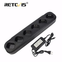 Rapid Six-way Charger Single-Row Walkie Talkie/Battery Charger For TYT MD-380 MD380 DP-290 Retevis RT3 DMR Radio Charger J9110S