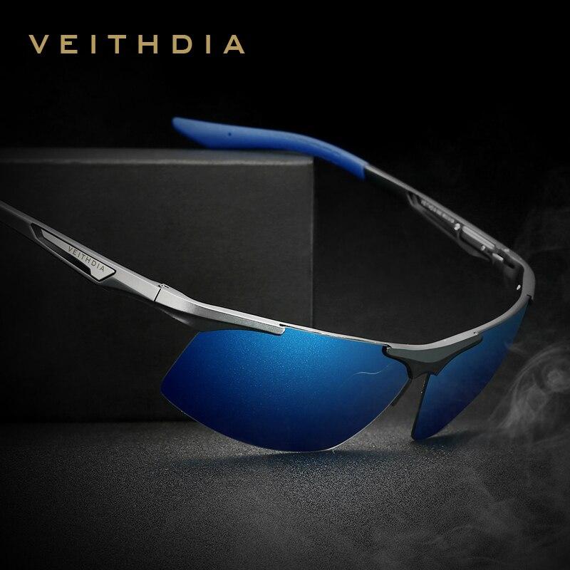VEITHDIA Aluminium Magnesium männer Sonnenbrille Polarisierte Männer Beschichtung Spiegel Gläser oculos Männlichen Brillen Zubehör Für Männer 6562