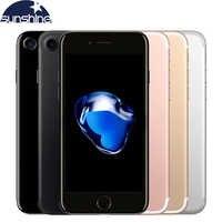 Débloqué Original Apple iPhone 7 Quad-core téléphone portable 12.0MP caméra 32G/128G/256G Rom IOS empreinte digitale téléphone tactile