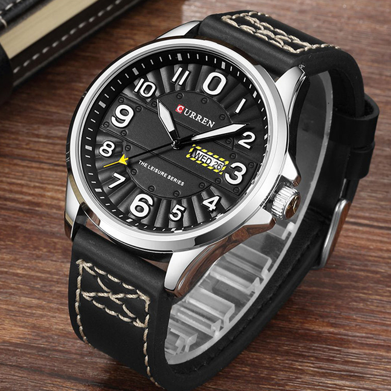 CURREN Clock Men Wrist Watch Man Top Brand Luxury Sports Male Watches Leather Army Military Mens Wristwatch 2017 Relojes Hombre