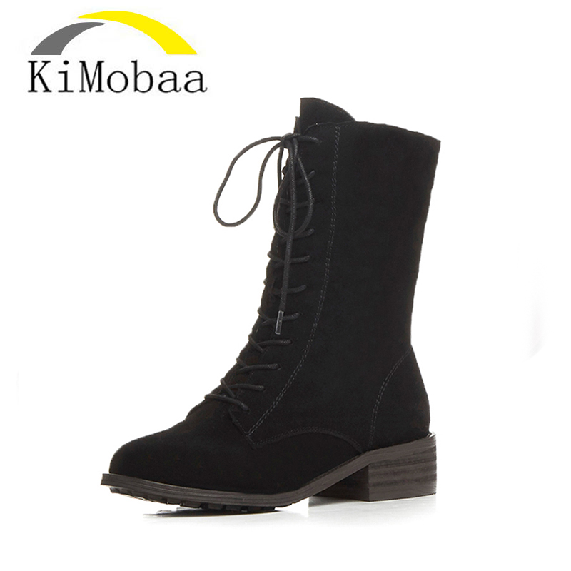 Kimobaa Free Shipping Women's Boots New Arrival Classic Mujer Botas Genuine Cowhide Leather Snow Boots Winter Shoes Plush TX148 free shipping top fashion new mujer botas 2016 winter women boots 100