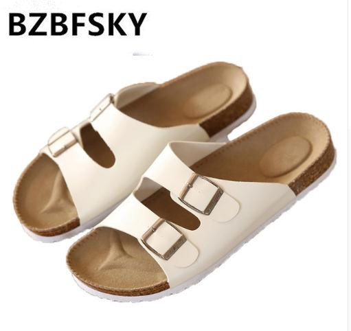30748ec9fa0 2018 Sandals Unisex Lovers Cork Slippers Summer Beach Slippers Flip The  Trend Of Sandals Casual Shoes Flip Flops