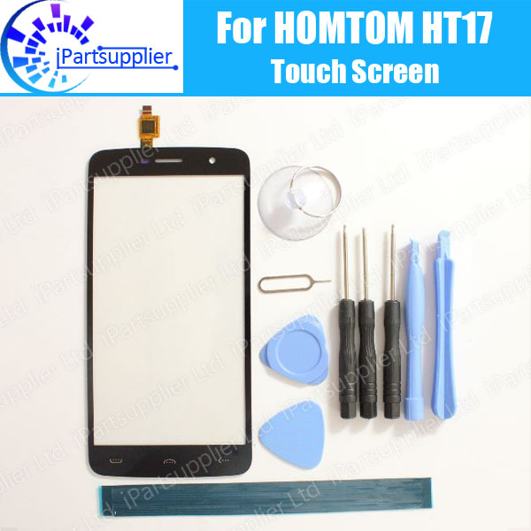 HOMTOM HT17 Touch Screen Digitizer 100% Guarantee Original Digitizer Glass Panel Replacement For HOMTOM HT17+tool+ Adhesive
