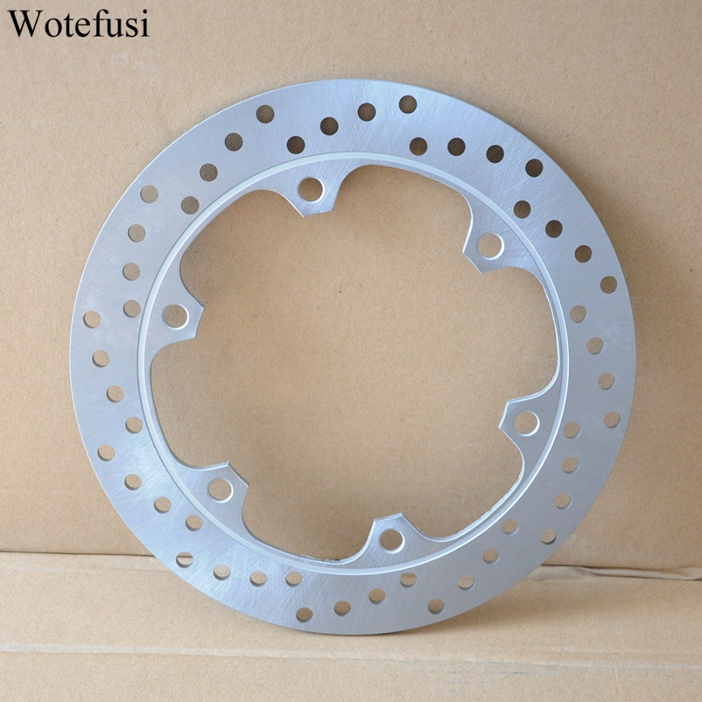 Wotefusi Motorcycle New One Piece Rear Brake Rotor Disc For Honda VFR750F 1985-1989 1986 1987 1988 CBR1000F [PA405] keoghs real adelin 260mm floating brake disc high quality for yamaha scooter cygnus modify