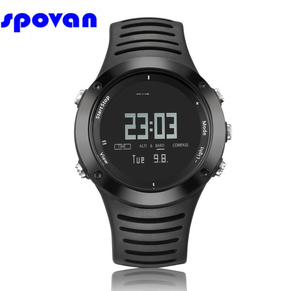 Men's Watches Relogio Masculino Spovan Luxury Brand Digital Military Sport Watch Chronograph/barometer/altimeter/thermometer/compass Clock Man Refreshing And Enriching The Saliva