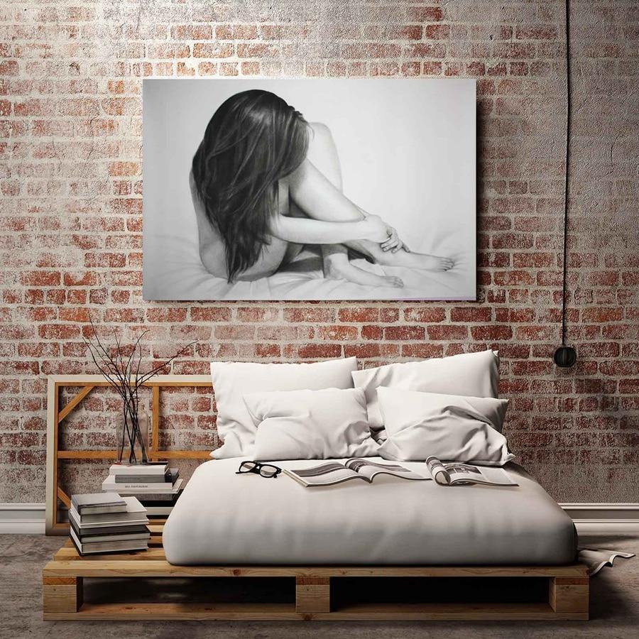 Cx404 Sexy Long Hair Naked Figure Sceneryhd Canvas Print -4992