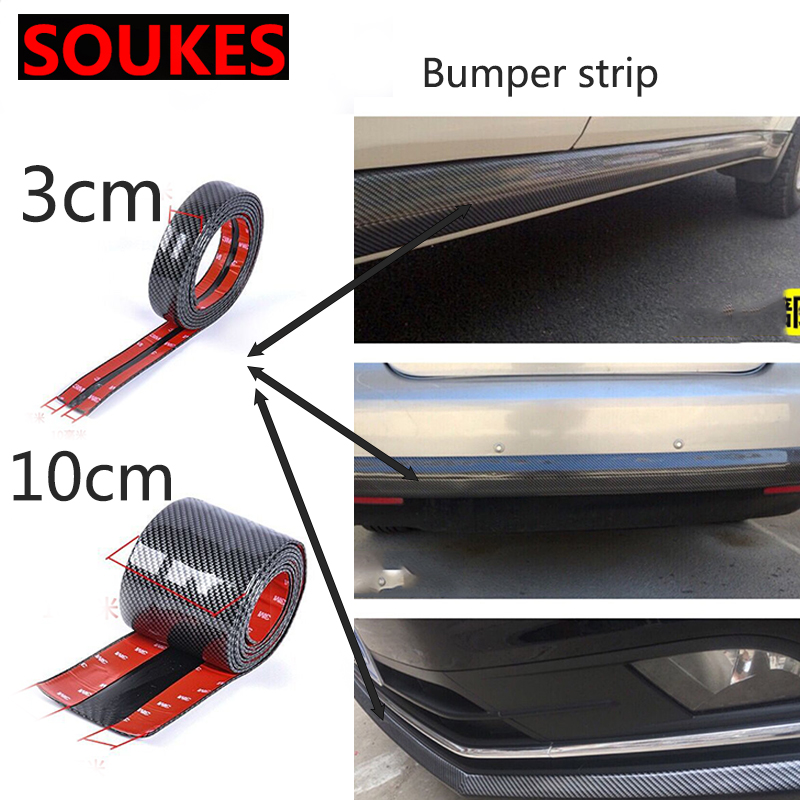 5D Carbon Fiber Rubber Car Protector Strip Sticker For BMW E46 E39 E90 E60 E36 F30 F10 E34 X5 E53 E30 F20 E92 E87 M3 M4 M5 X6 image