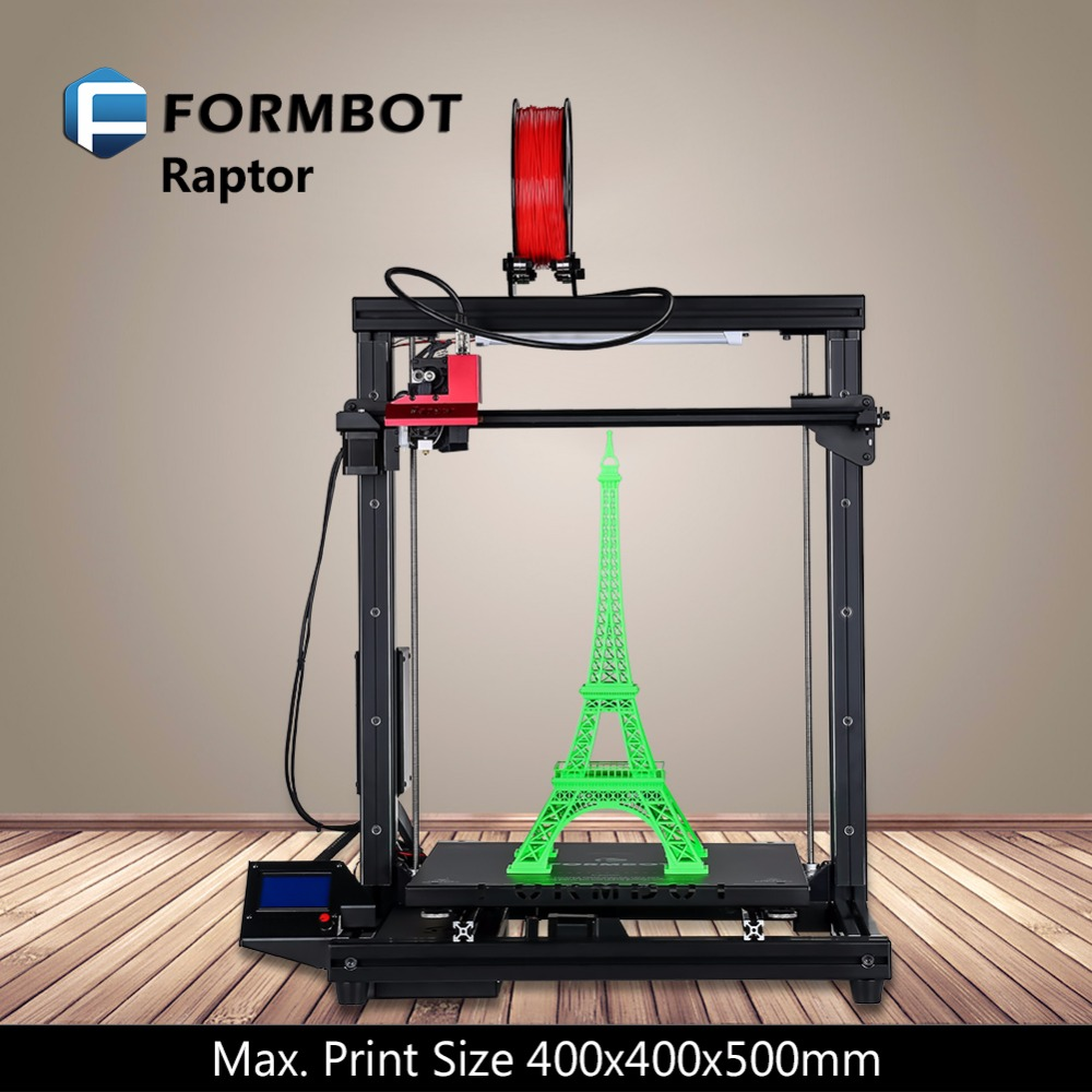 FORMBOT Raptor big printing size 3D imprimante electronic stanmpante diy kit auto bed leveling 1 KG filament as gift printer
