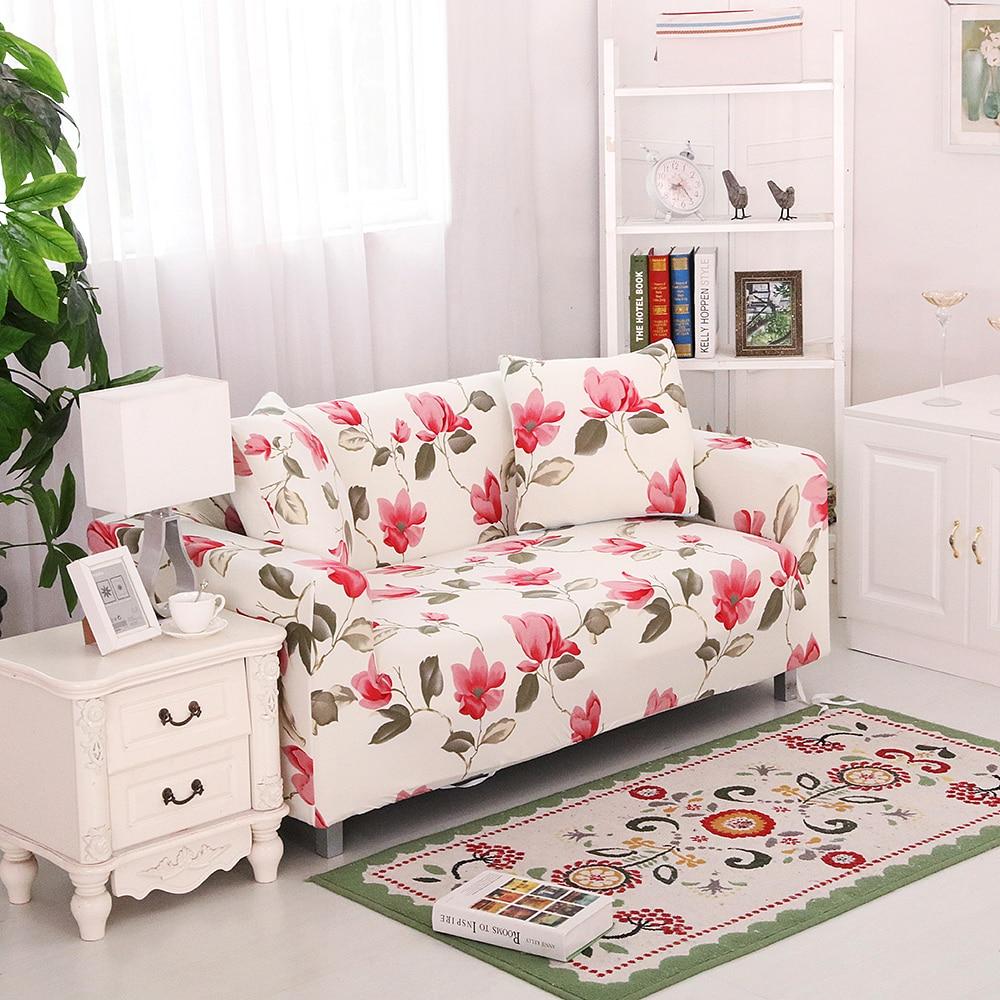 Beautiful Stretch Elastic Sofa Cover Sofa Slipcover Floral Single/two/three/four Seat  Four