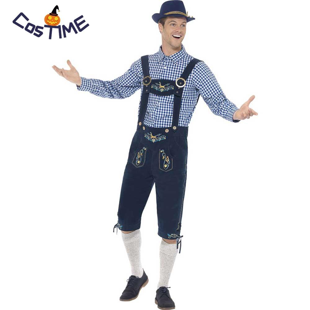 Lederhosen Costume Adult German Oktoberfest Beer Guy