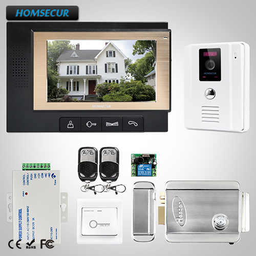 HOMSECUR 7 Wired Video Door Entry Phone Call System Electric Lock+Keys Included : TC011-W  + TM702-B HOMSECUR 7 Wired Video Door Entry Phone Call System Electric Lock+Keys Included : TC011-W  + TM702-B