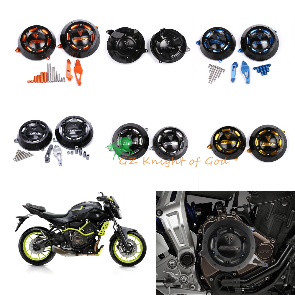 MT07 FZ07 Engine Stator Case Cover Engine Protective Cover for YAMAHA MT-07 FZ-07 2014 2015 2016 2017 FZ 07 MT 07 alconstar motorcycle mt07 engine stator case cover engine protective cover protector case for yamaha mt 07 mt07 fz07 2014 2016
