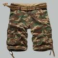 2016 shorts masculina Camouflage Cargo Military Shorts Men Cotton Loose Shorts Men Army Short Pants Bermuda