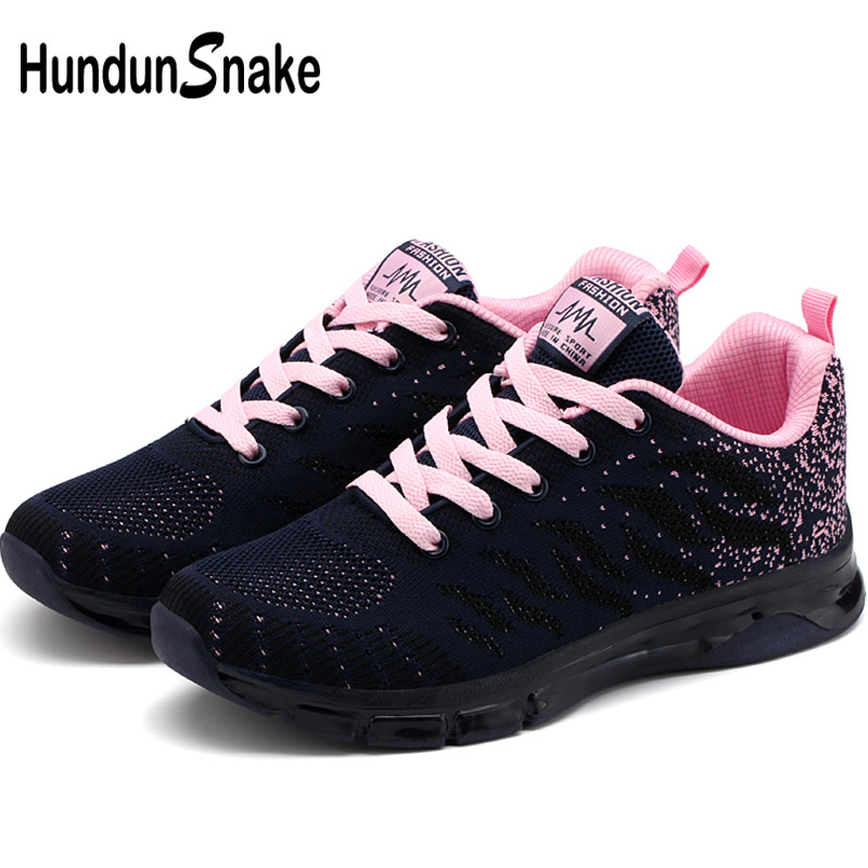 Hundunsnake Air Cushion Women Shoes Sport Summer Sneakers For Women Mesh Zapatos Mujer Black Krassovki Chaussure Femme 2018 G-33