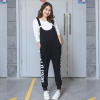 Plus Size XL 4XL Rompers new autumn Womens Jumpsuits Casual Sleeveless Backless Letters print Overalls Strapless Paysuits a552
