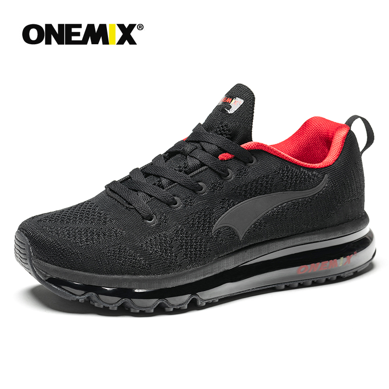 ONEMIX Men Running Shoes Breathable Runner Athletic Sneakers Women Air Cushion Treadmill Running Shoes Men Outdoor Walking Shoes