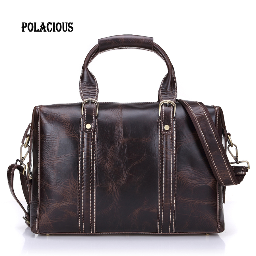 Fashion Multifunction real Genuine leather men messenger bags business men bags men's briefcase shoulder laptop men's travel bag велосипед challenger desperado fs 26 d сине оранжевый 18