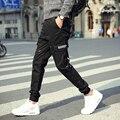 2017 Mens Pantalones Casuales Para Hombre Pantalones de Carga de Bolsillo Gimnasio Hip hop hombres harem pantalones largos más tamaño al aire libre de alta calidad 5XL