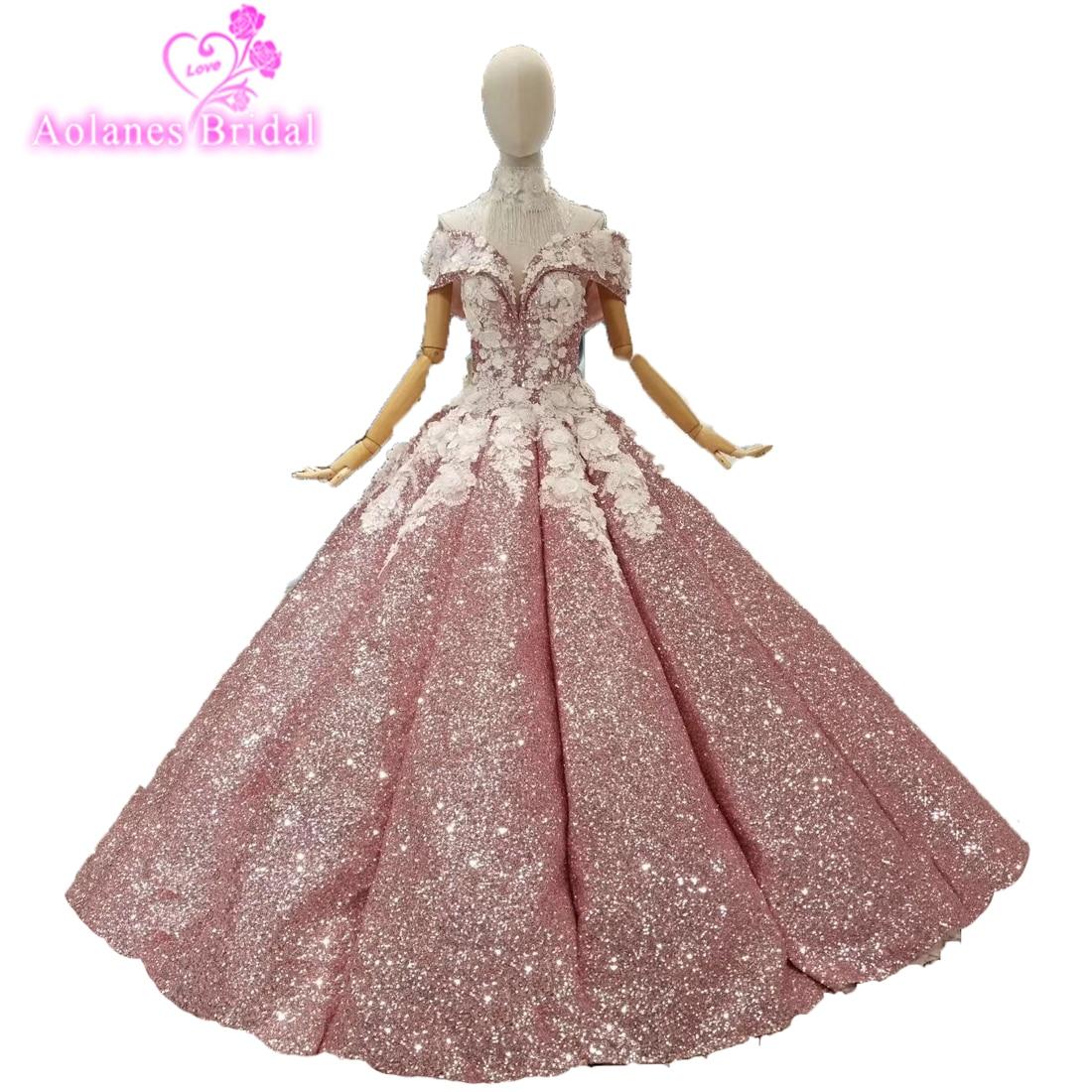 Robe De soirée saoudienne arabe robes De bal Dubai princesse luxuriante robes De bal 2018 Vintage cristaux perles Blings longues robes De bal