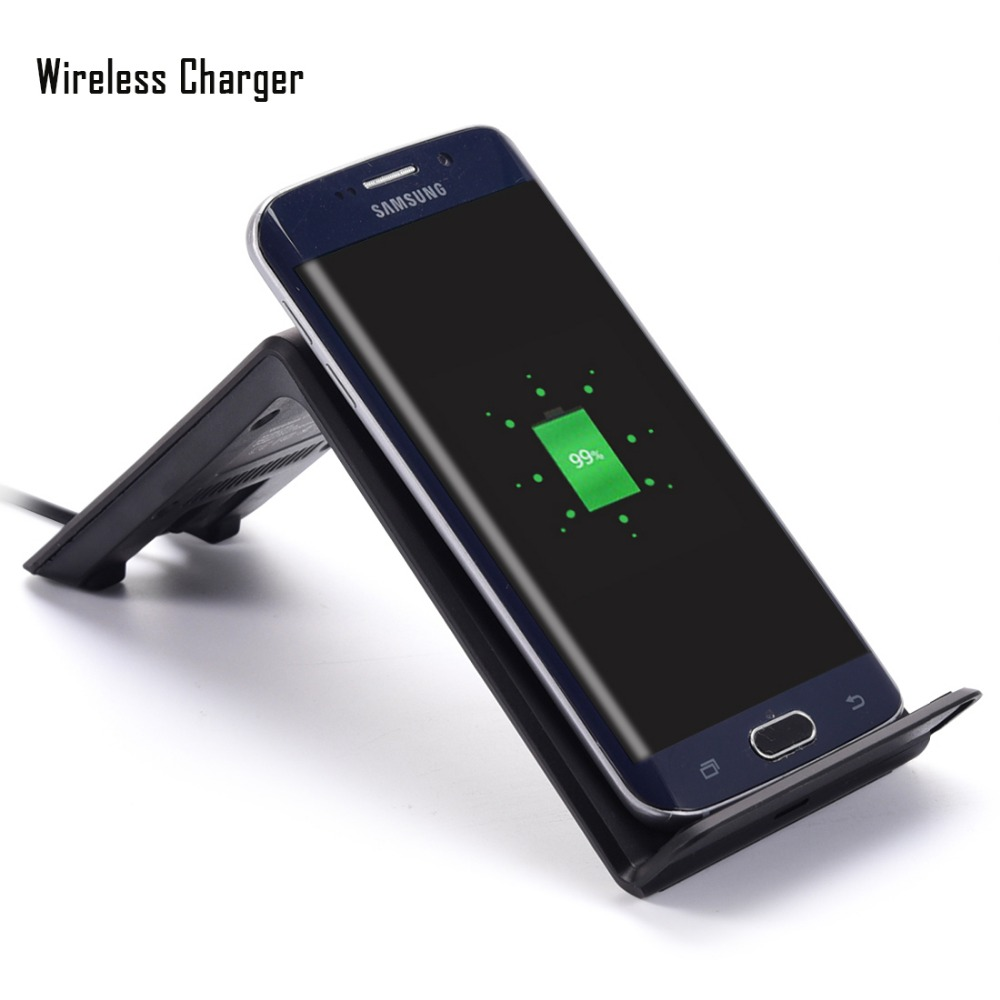 10w output Qi Wireless Charger Charging Coil Pad Transmitter Stand for samsung s6/s6 edge/s6 edge plus/note5/s7/s7edge