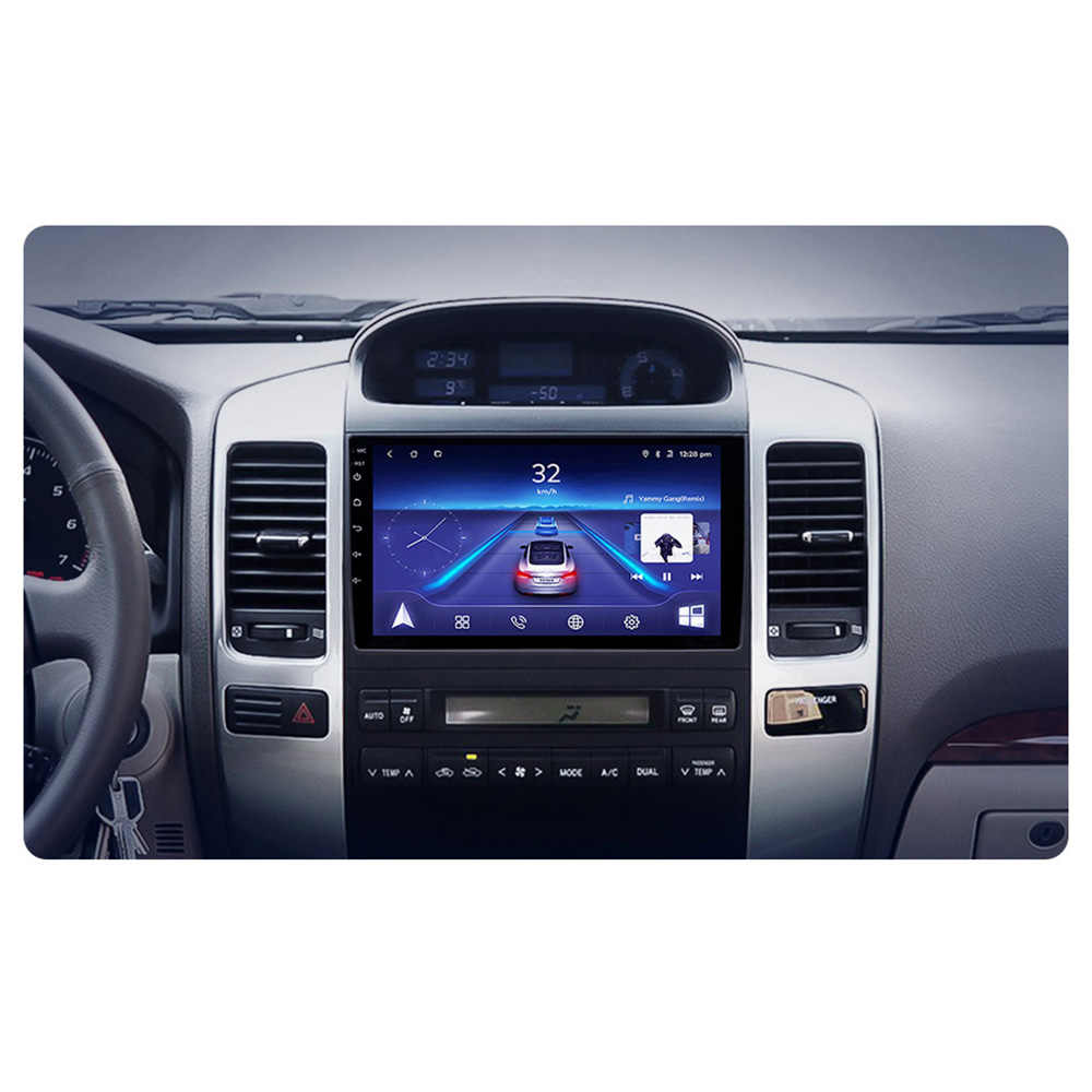 Coche de 9 pulgadas de MP4 MP5 reproductor de Video Android 8,1 2 Din Radio Automotivo para Toyota Land Cruiser Prado 2003- 2009 Lexus de 120 GX470 46