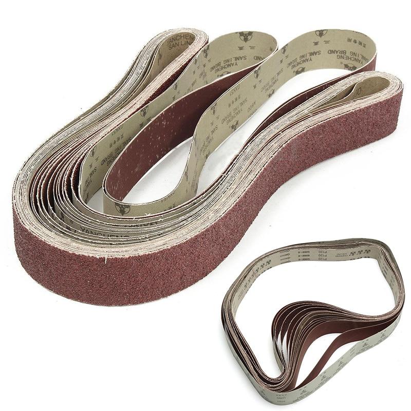 14Pcs/Pack 2x72 Sanding Belt Assortment Sanding Belts Grit 36 60 80 120 240 400 600 For Wood Metal Polishing