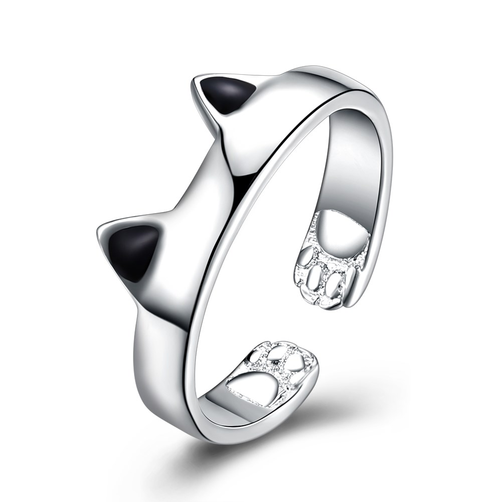 Stainless Steel Silver Plated LKNSPCR961 The cat ear ring fashion LKNSPCR961 The cat ear ring fashion