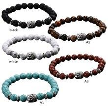 Bracelets for Eomen 2016 Black Lava Stone Bead Buddha Bracelets  Bangles High Quality Handmade Buddha Bracelet Dtone VBV55 P0.20