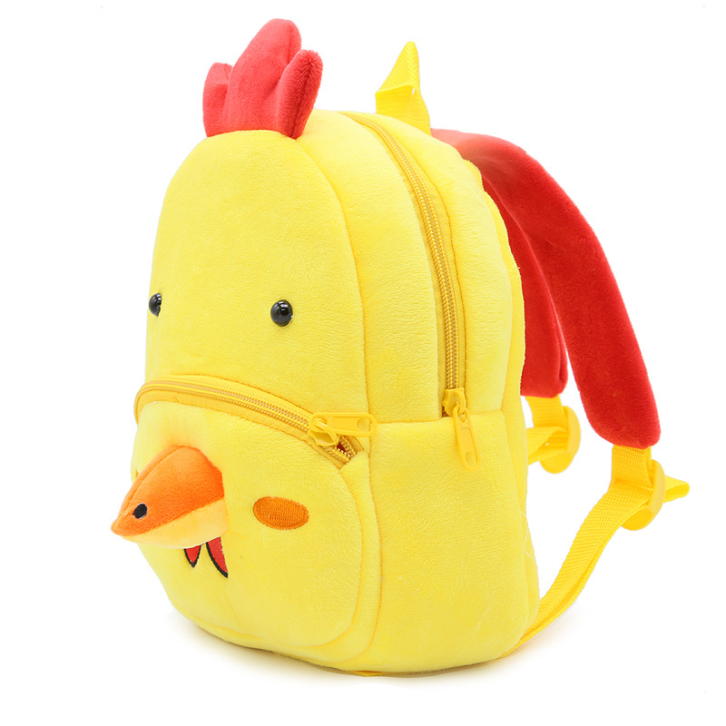 High Quality Children School Bag Plush Cartoon Animal Cock Backpack Baby Boy Gril Schoolbags Gift For Kids Backpacks mochila