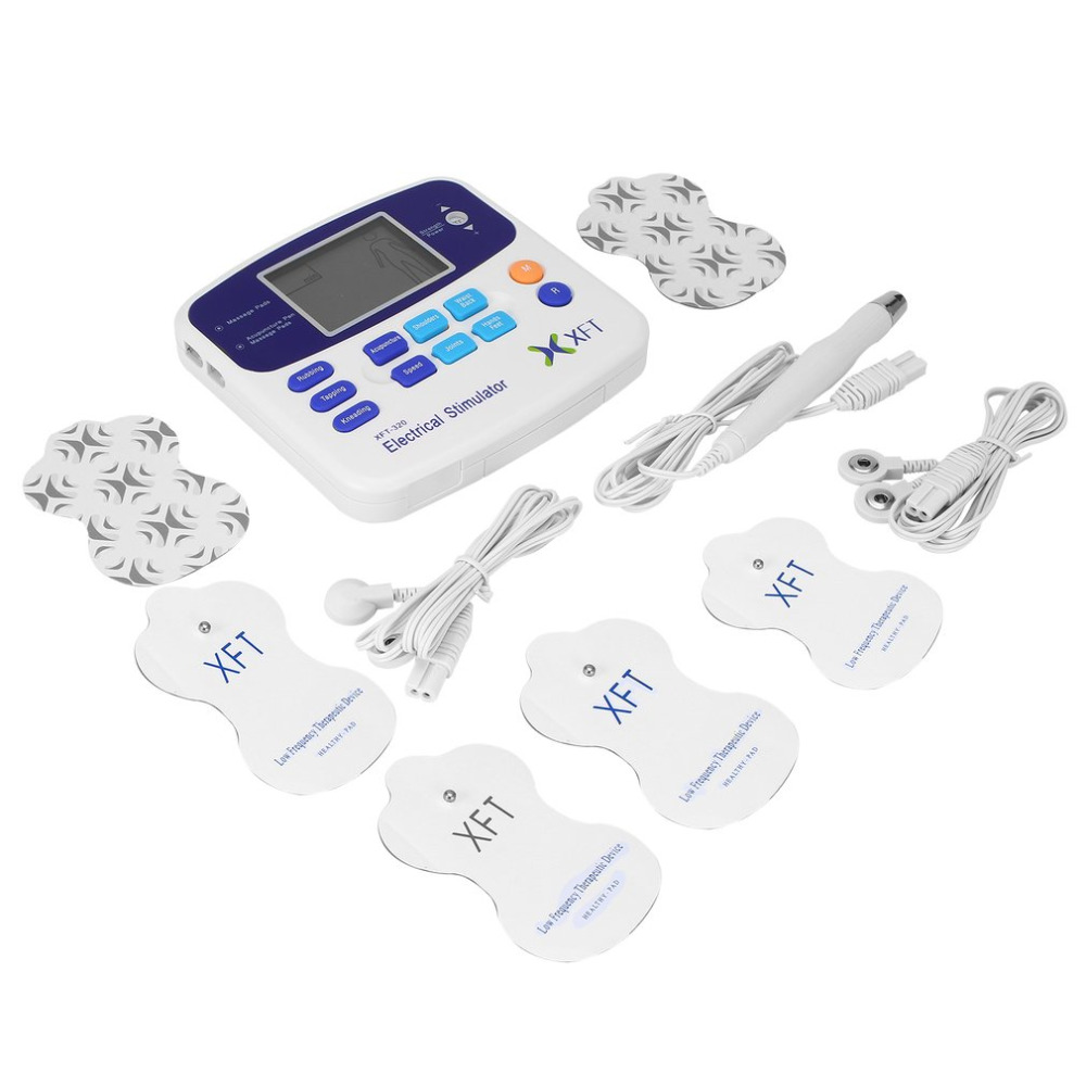 Professional XFT-320 Electrical Stimulator Massager Dual Tens Machine Digital Massage Body Relaxation Worldwide sale 2017 Hot 2017 hot sale mini electric massager digital pulse therapy muscle full body massager silver