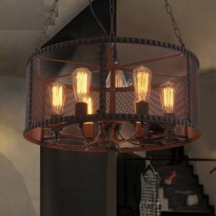 Loft Style Rail Network Retro Pendant Light Fixtures Edison Industrial Vintage Lighting For Indoor Dining Room Hanging Lamp loft vintage edison glass light ceiling lamp cafe dining bar club aisle t300