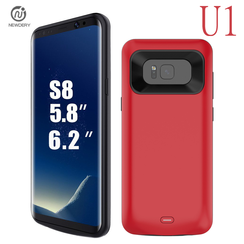 NEWDERY U1 RU USA Ship For Samsung galaxy S8 S8 Plus Battery Case Rechargeable Power Bank