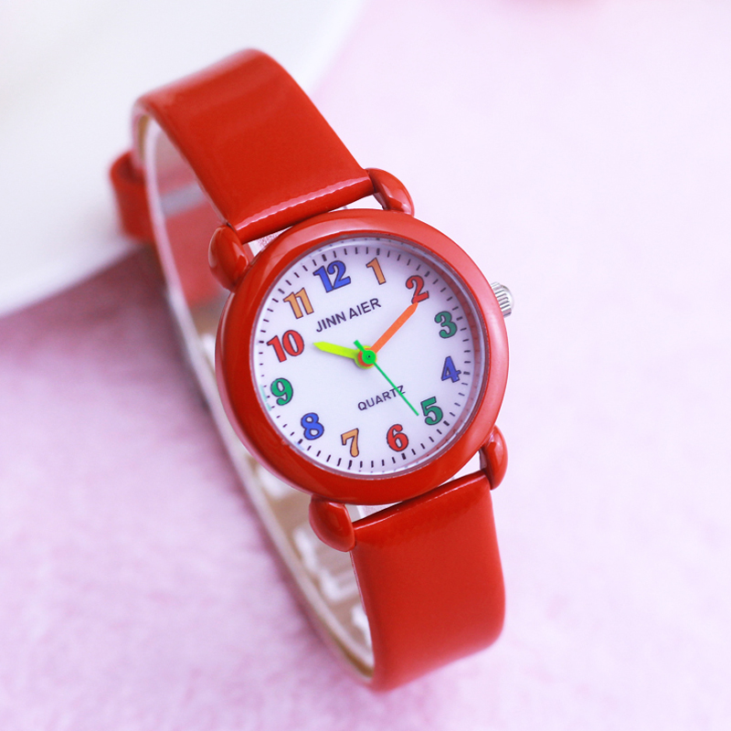 2019 Children Girls Boys Colorful Digital Quartz Leather Watches Little Kids Cute Electronic Sports Clock Watches Montre Enfant
