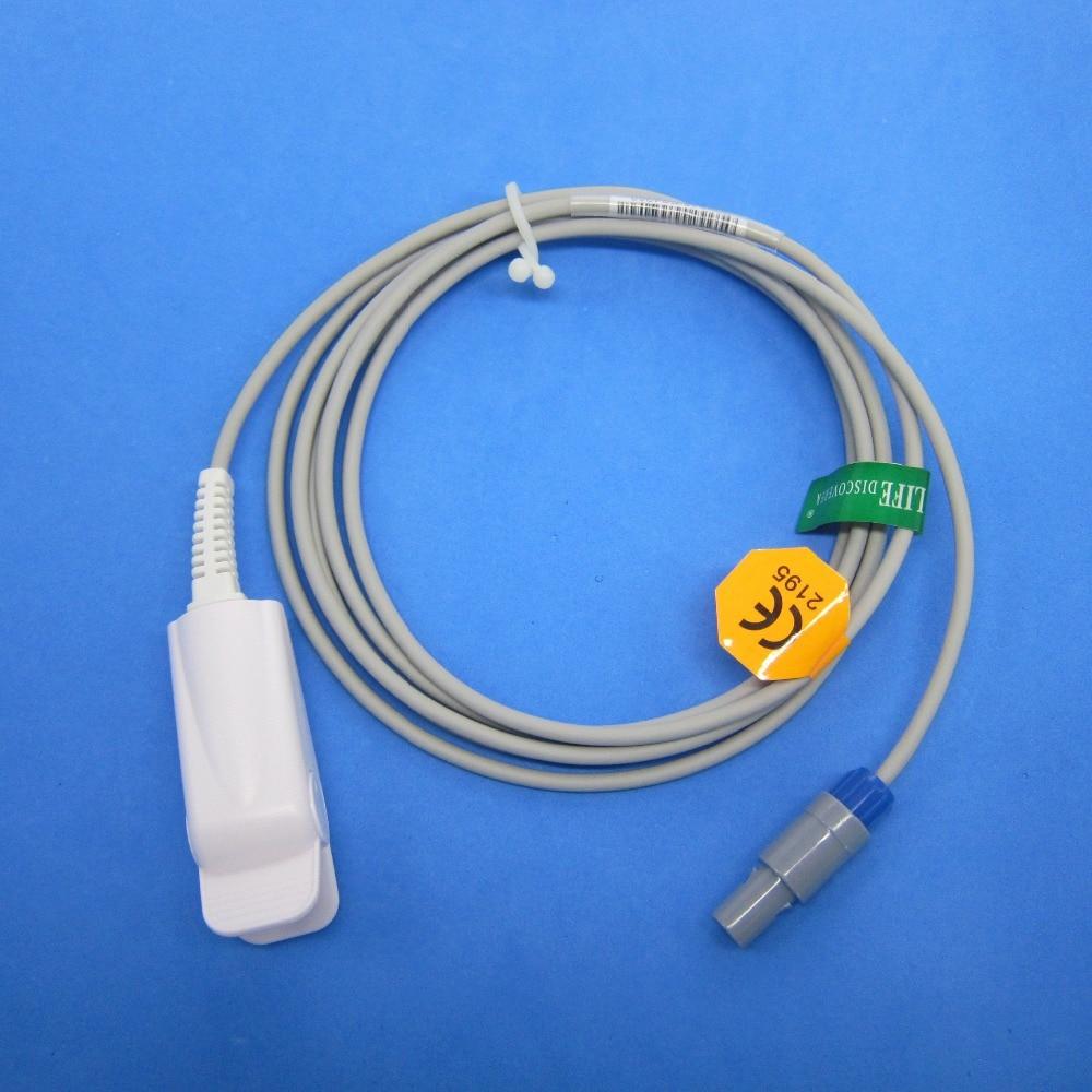Long Calbe Adult NK Finger Clip SPO2 Sensor Compatible For MINDRAY MEC1000/2000,PM7000/8000/9000