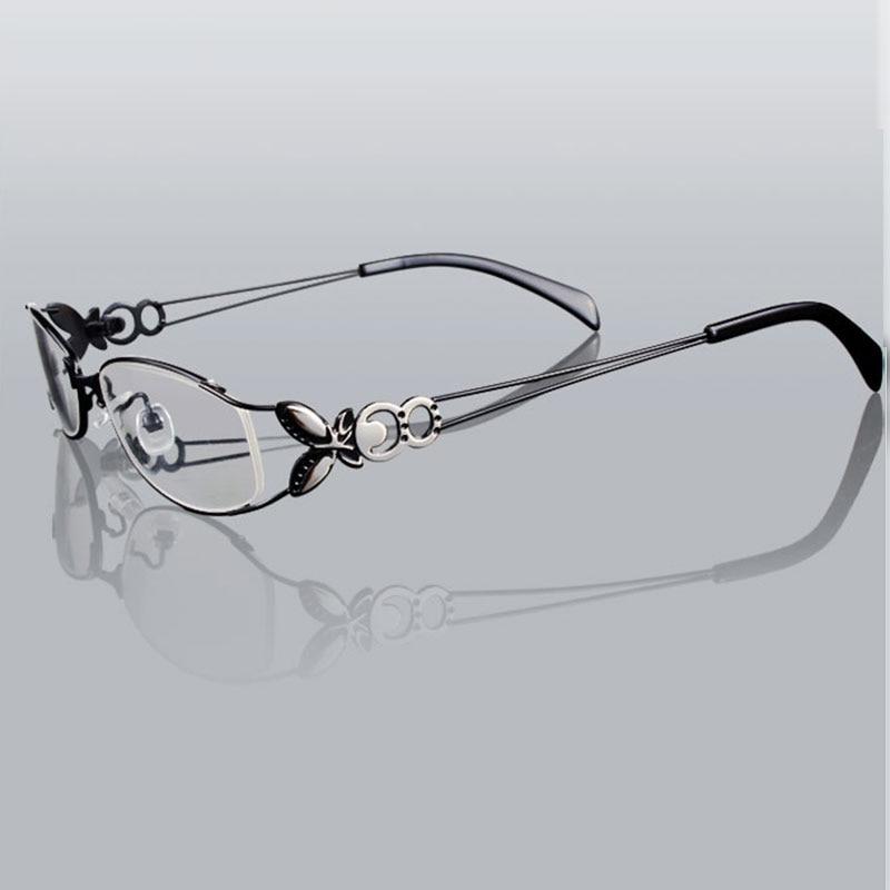 Kupu-kupu Paduan Elegan Wanita Kacamata Bingkai Kacamata Vintage Yang - Aksesori pakaian - Foto 3