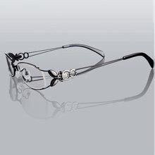 Butterfly Alloy Elegant Women Glasses Frame Female Vintage Optical Glasses Plain Eye Box Eyeglasses Frames Myopia Eyewear