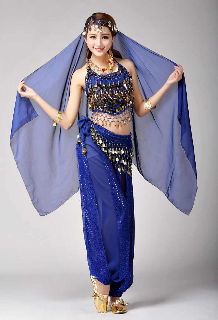 Frauen indien bauchtanz kostüme für erwachsene 2 stück top rock 2017 profi-set bimba performans bellydance kleid für frauen