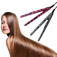 Mini EU Electronic Ceramic Hair Straightener Straightening Iron Tool 220V Red Hot Selling