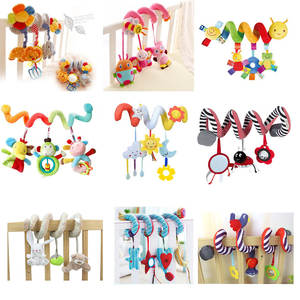 Apaffa Baby Stroller Bed Crib Car Hanging Plush Rattles Toy