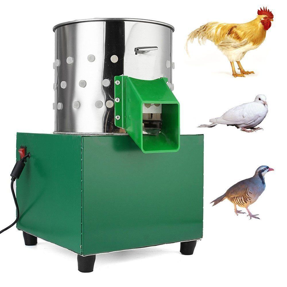 110V Small Poultry Plucker Chicken Birds Depilator Dove Quail Feather Plucking Machine-In -4750