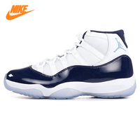 Nike AIR JORDAN 11 Ретро AJ11 Для мужчин Мужская Баскетбольная обувь, белый и темно синий, амортизация износостойкие дышащий 378037 123