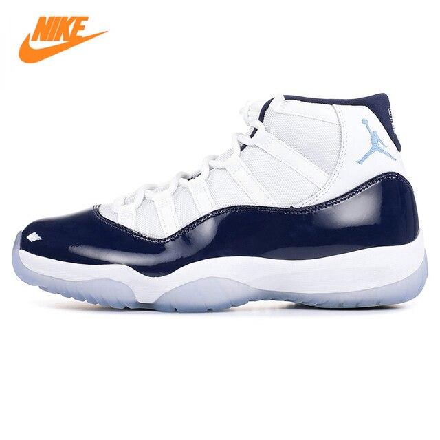 buy popular 6142e e2bb0 ... greece nike air jordan 11 retro aj11 mens basketball shoes white dark  blue shock 426b6 652a7